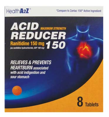 "View ACID REDUCER TABLETS 8 CT 150 MG ""COMPARE TO ZANTAC"" EXP 09/2017"