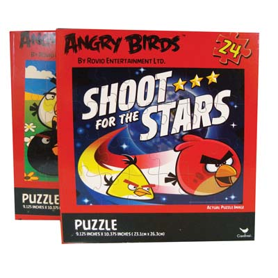 View ANGRY BIRDS JIGSAW PUZZLE 24 PIECES 9.125 X 10.375 INCH ASSORTED DESIGNS