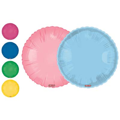 View MYLAR BALLOON 18 INCH  ASSORTED SOLID COLORS