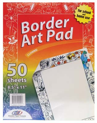 View ART PAD 50 SHEETS 8.5 X 11 INCH ASSORTED DESIGNS