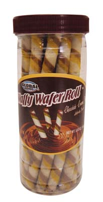 View GLOBAL WAFFY WAFER ROLLS CHOCOLATE CREAM FILLED 5.68 OZ