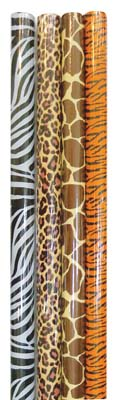 View EVERYDAY GIFT WRAP 30 X 48 INCH 10 SQ FT ANIMAL PRINT DESIGN IN DISPLAY