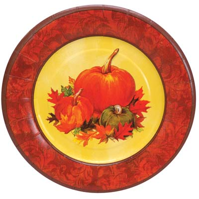 View PAPER PLATES 10 COUNT 8 INCH ROUND AUTUMN