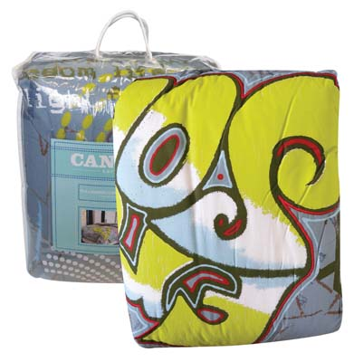 View CANNON TEEN COMFORTER SET 3 PC INCLUDES COMFORTER AND TWO STANDARD SHAMS FULL/QUEEN GRAFFITI DESIGNS