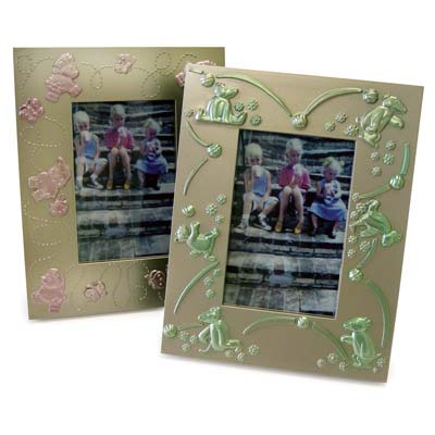View PLASTIC PICTURE FRAME 3 X 4 INCH 2 ASSORTED DESIGNS PREPRICED $1.00
