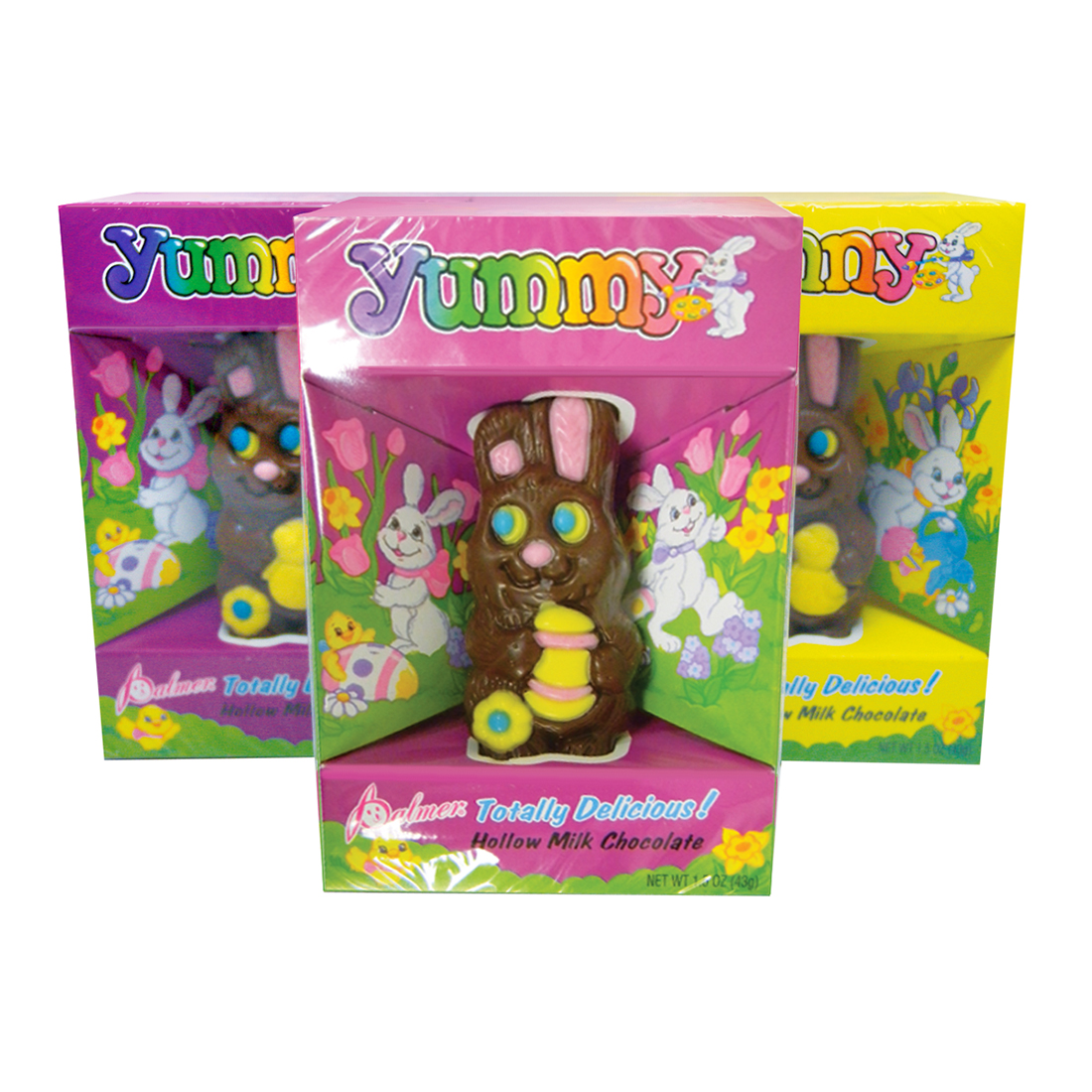 View PALMER HOLLOW MILK CHOCOLATE BUNNY 1.5 OZ ASSORTED COLORS