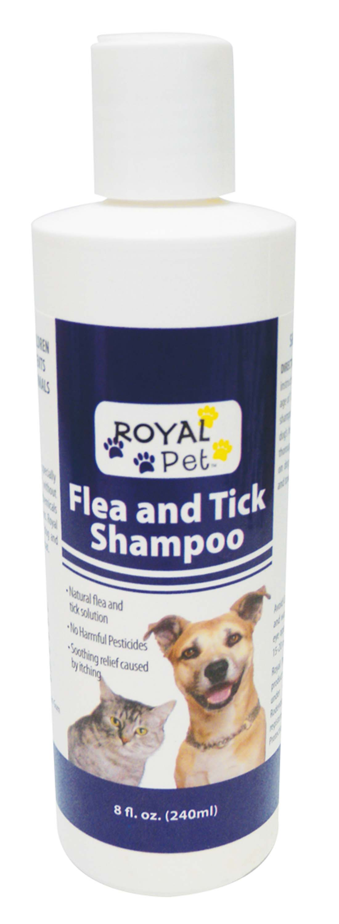 View ROYAL PET FLEA AND TICK SHAMPOO 8 OZ **MADE IN USA**