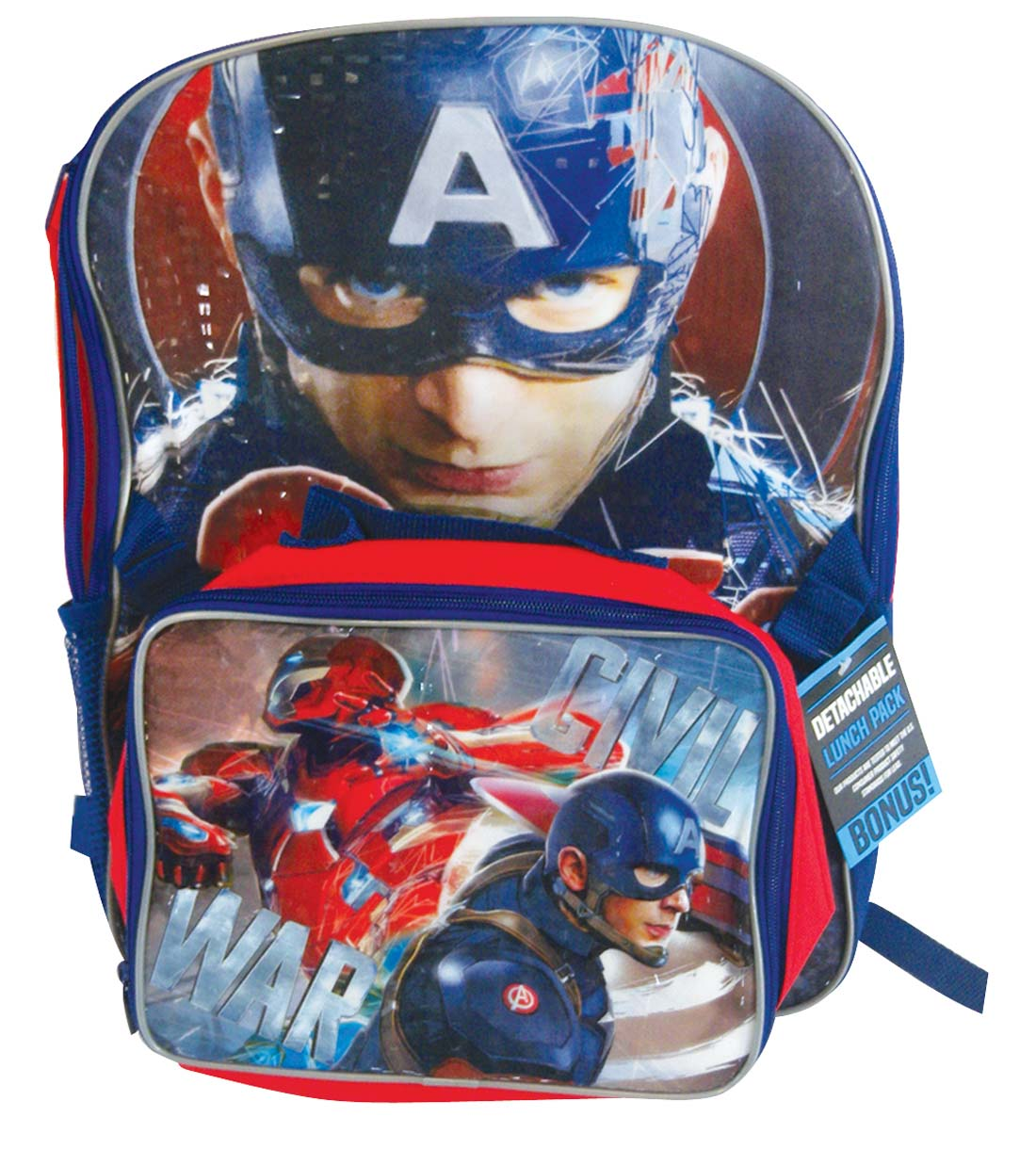 "View BACKPACK 18"" & LUNCH BAG CAPTAIN AMERICAN"