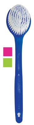 View BATH BRUSH 13.5 INCH ASSORTED TRANSLUCENT COLORS GREEN/PINK/ BLUE