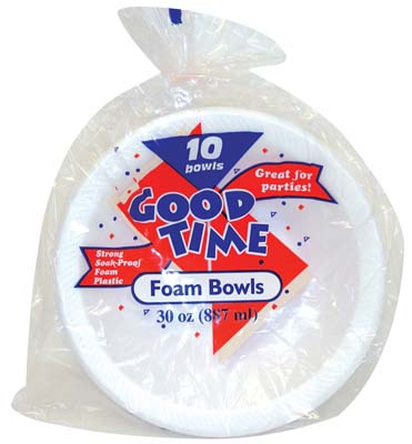 View GOOD TIME FOAM BOWL 10 COUNT 30 OZ