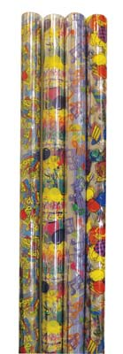 View CELLO GIFT WRAP 12.5 SQ FT ASTD DESIGNS/COLORS