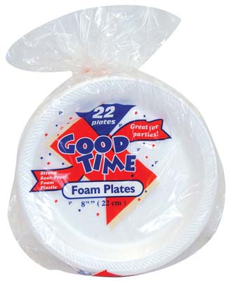 View GOOD TIME FOAM PLATE 22 COUNT 9 INCH