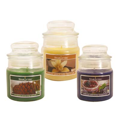 View CANDLE 3 OUNCE ASSORTED COLORS COLORS MAY VERY ** MADE IN USA **