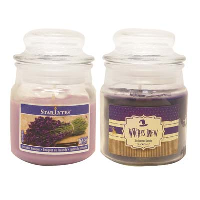 View CANDLE 3 OUNCE ASSORTED PURPLE  ** MADE IN USA **