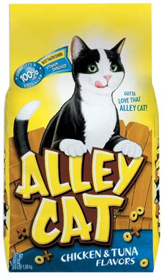 View ALLEY CAT DRY CAT FOOD 3.15 LB BAG CHICKEN & TUNA FLAVORS