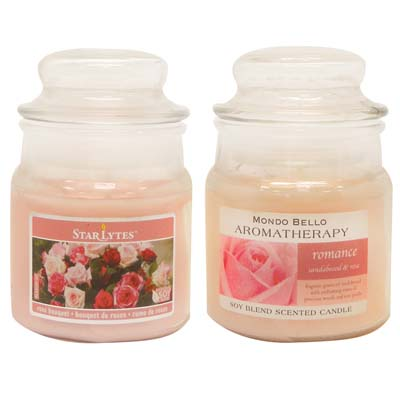 View CANDLE 3 OUNCE ASSORTED LIGHT PINK  ** MADE IN USA **