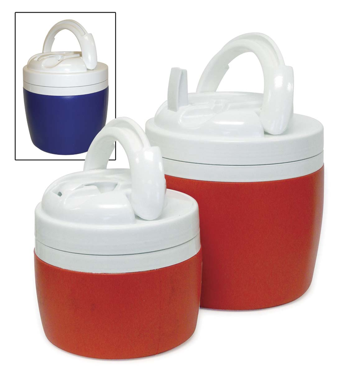 View INSULATED JUG SET 2 PC-1/2 GALLON & 1 GALLON ASSORTED COLORS