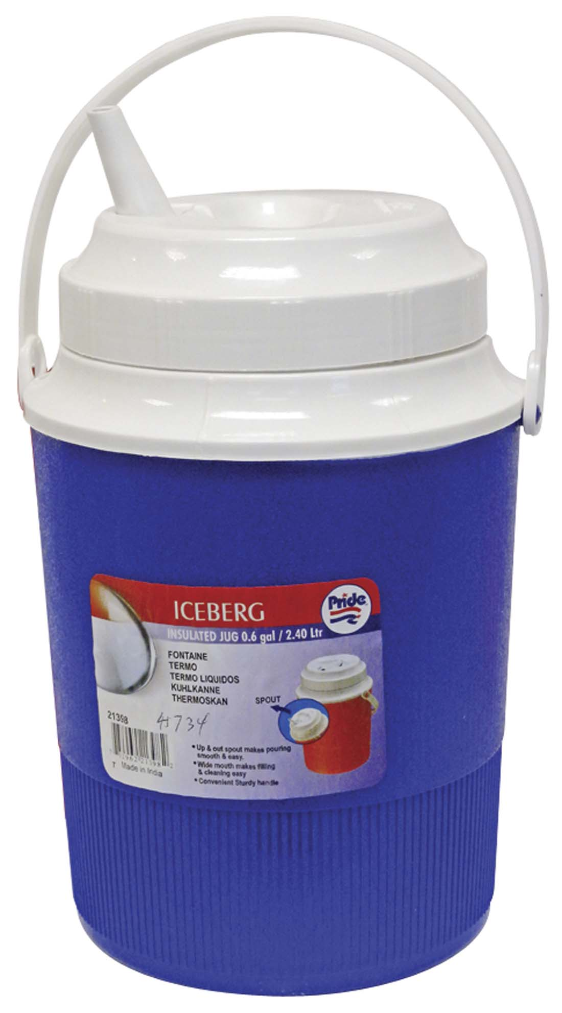 View INSULATED JUG 0.60 GALLON ASSORTED COLORS