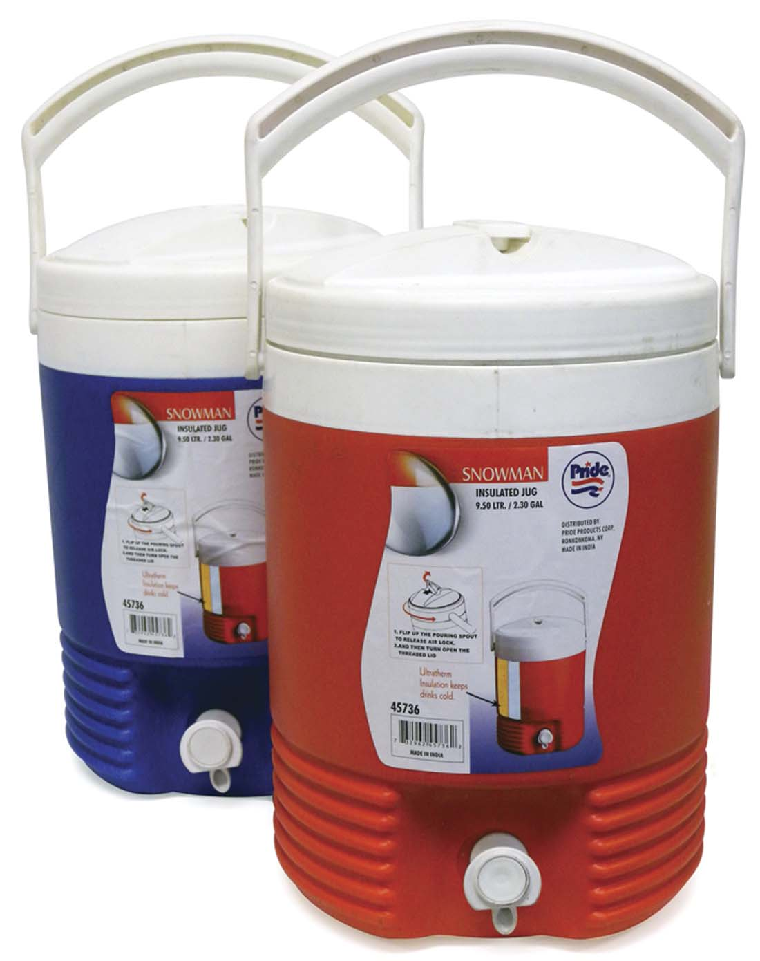 View INSULATED JUG 2.30 GALLON ASSORTED COLORS