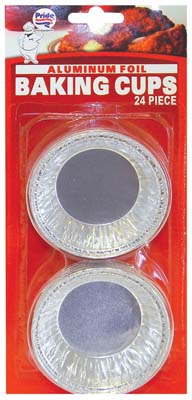 View FOIL BAKING CUPS 24 PACK 3 INCH  ROUND