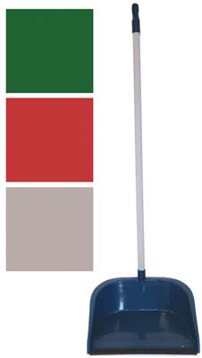 View LONG HANDLE DUSTPAN WITH 29 INCH HANDLE ASSORTED COLORS