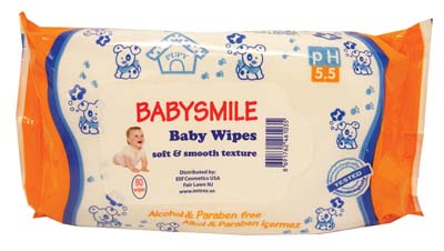 View BABY WIPES 80 COUNT SCENTED SOFT AND SMOOTH TEXTURE ORANGE