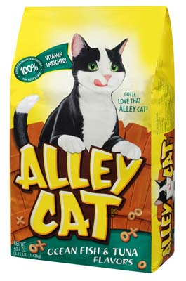 View ALLEY CAT DRY CAT FOOD 3.15 LB BAG OCEAN FISH & TUNA FLAVOR