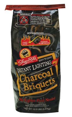 View SHOP-RITE CHARCOAL BRIQUETS 12.5 LB INSTANT LIGHTING