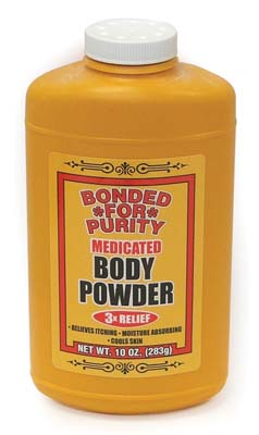 View BONDED FOR PURITY MEDICATED BODY POWDER 10 OZ (MADE IN USA)
