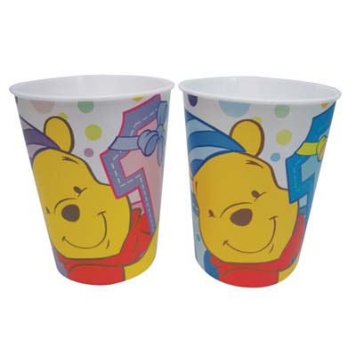 View DISNEY POOH PLASTIC CUP 16 OZ FIRST BIRTHDAY **MUST BE BROKEN**