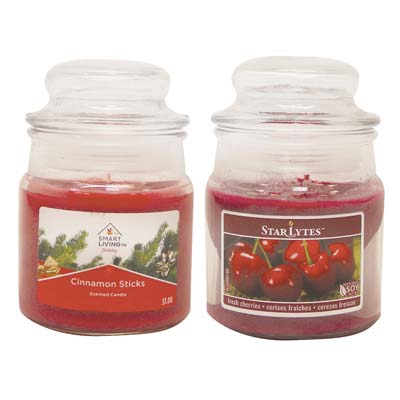 View CANDLE 3 OUNCE ASSORTED RED ** MADE IN USA **