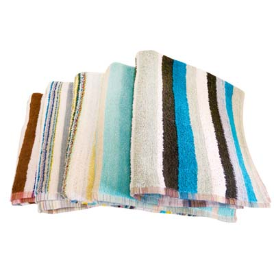 View BEACH TOWEL 27 X 52 INCH 530 GRAMS ASSORTED COLORS AND DESIGNS