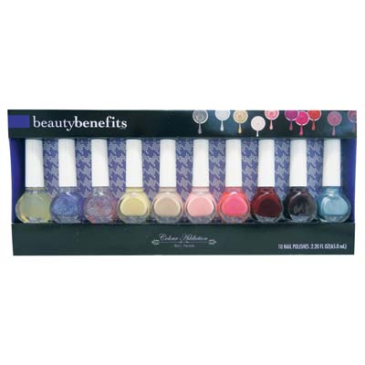 View NAIL POLISH SET 10 CT 2.20 OZ ASSORTED COLORS