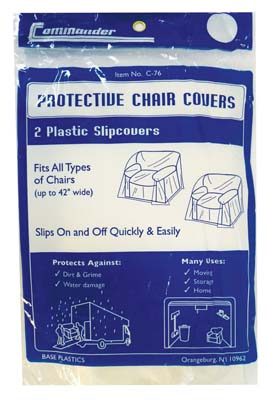 View PLASTIC CHAIR COVER 2 PACK UP TO 42 INCH WIDE