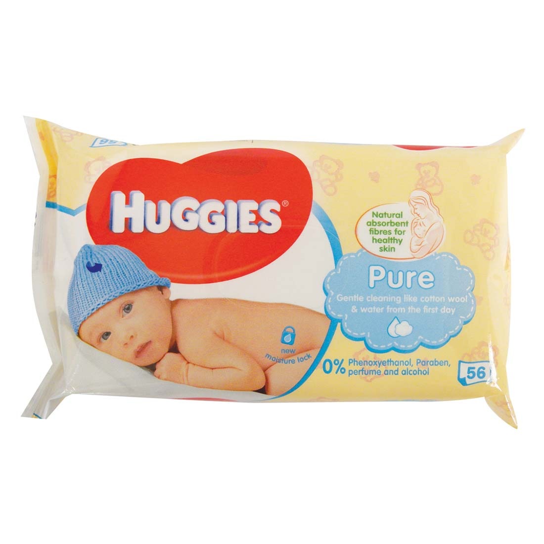 View HUGGIES BABY WIPES 56 COUNT PURE