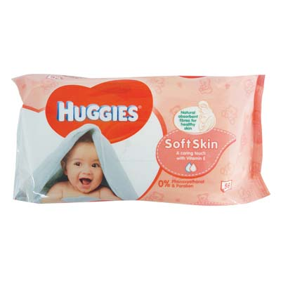View HUGGIES BABY WIPES 56 COUNT SOFT SKIN