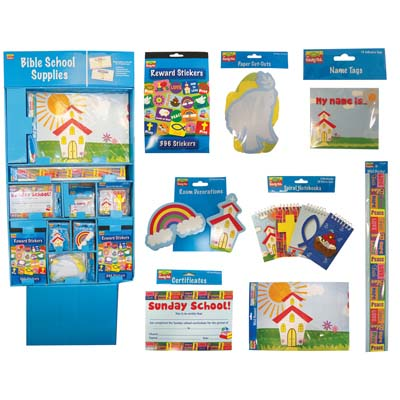 View CHRISTIAN SCHOOL STATIONERY SUPPLY CENTER DISPLAY - WALL BANNERS/CERTIFICATES/WALL BORDERS/PAPER CUT-OUTS/REWARD STICKERS/DECORATIONS/PADS