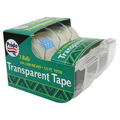 View CLEAR TAPE 3 PACK COUNTER DISPLAY 3/4x500 INCH