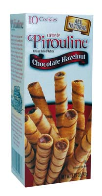 View PIROULINE WAFER ROLLS 10 PACK 3.25 OZ CHOCOLATE HAZELNUT (MADE IN USA)