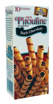 View PIROULINE WAFER ROLLS 10 PACK 3.25 OZ DARK CHOCOLATE (MADE IN USA)