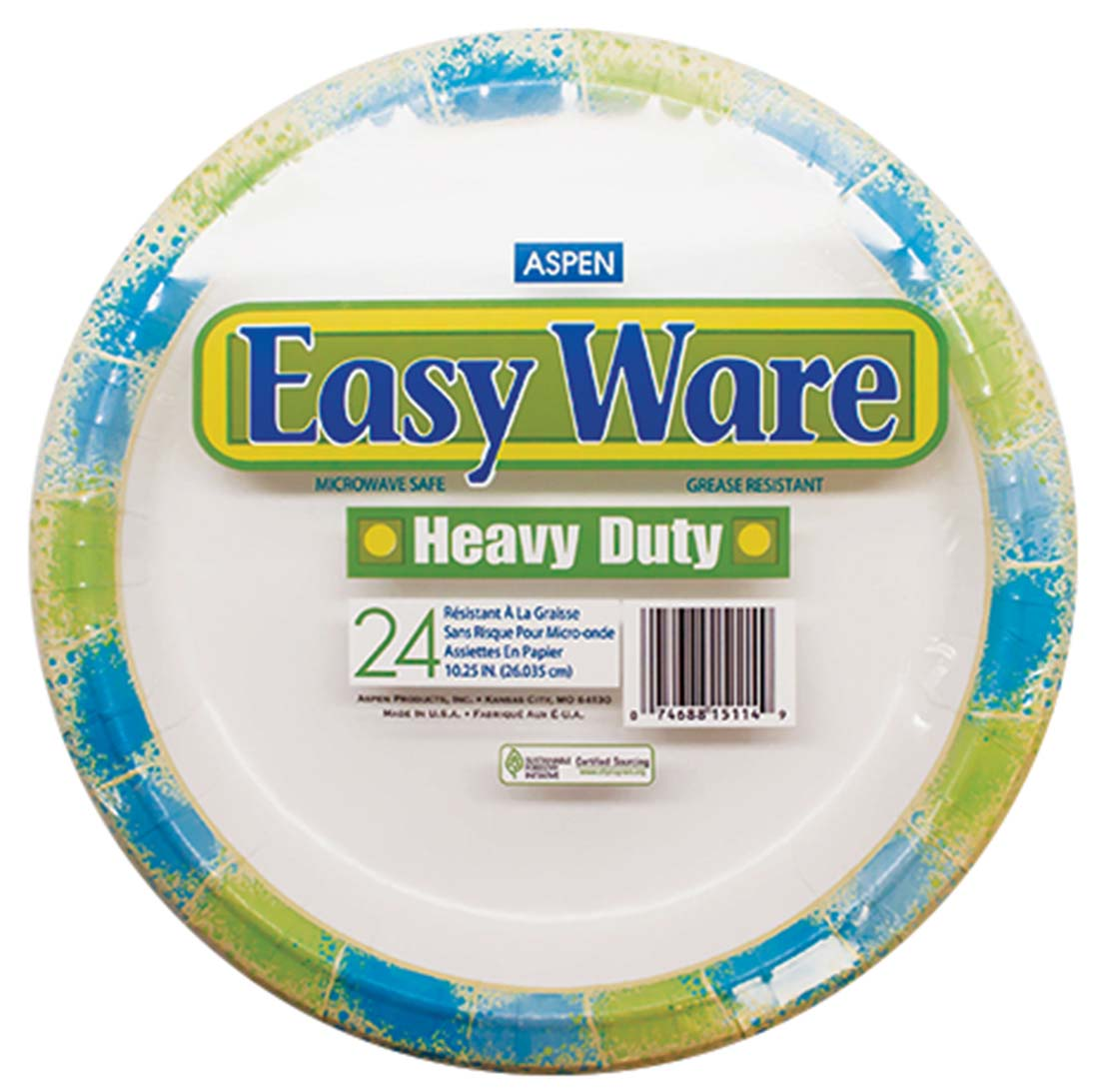 EASY WARE PRINT DESIGN 10.25  24CT HEAVY DUTY PAPER PLATE MICROWAVE SAFE.  sc 1 st  Pride Products & Pride Products