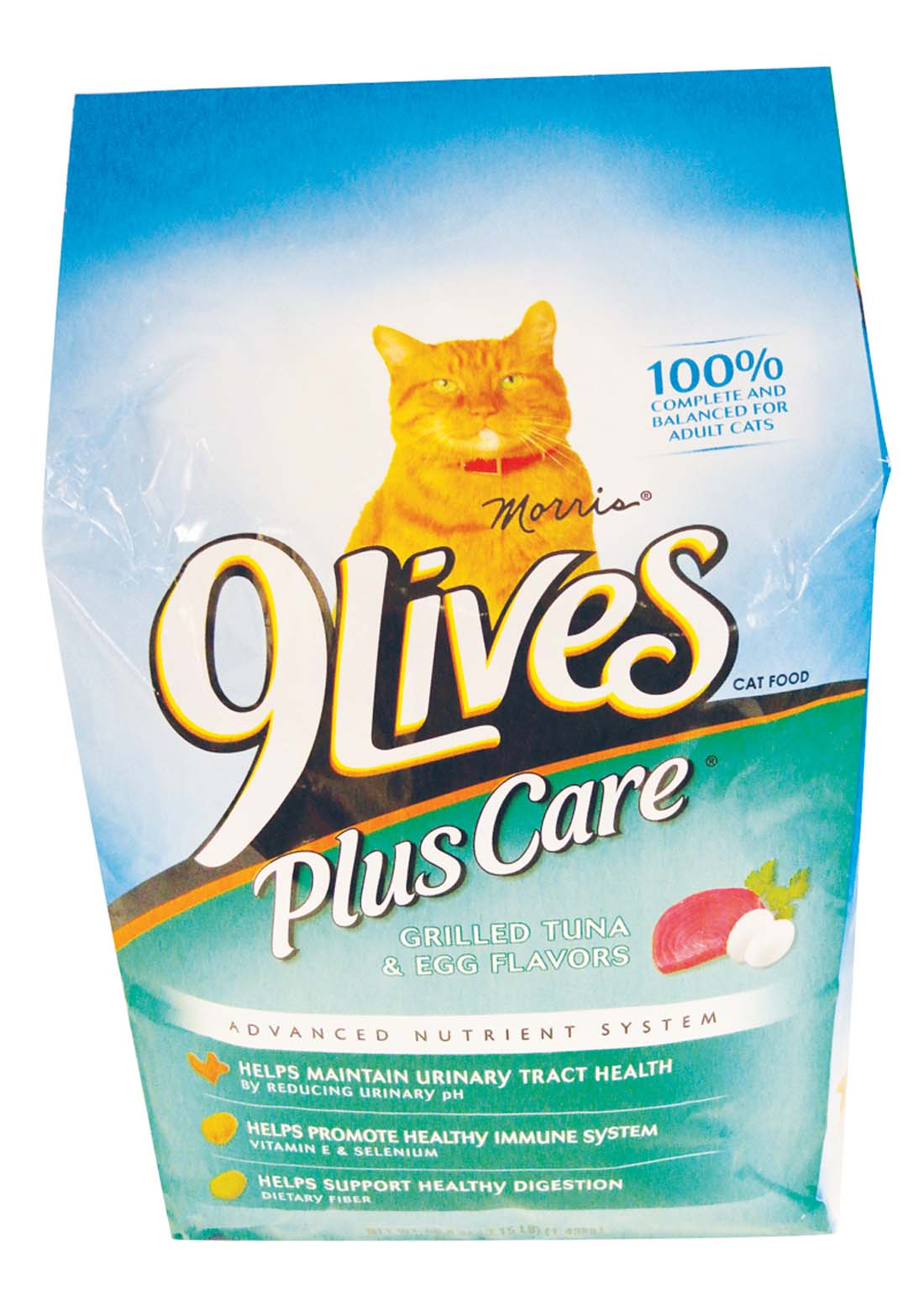View 9 LIVES CAT FOOD 3.15 LB BAG PLUS CARE