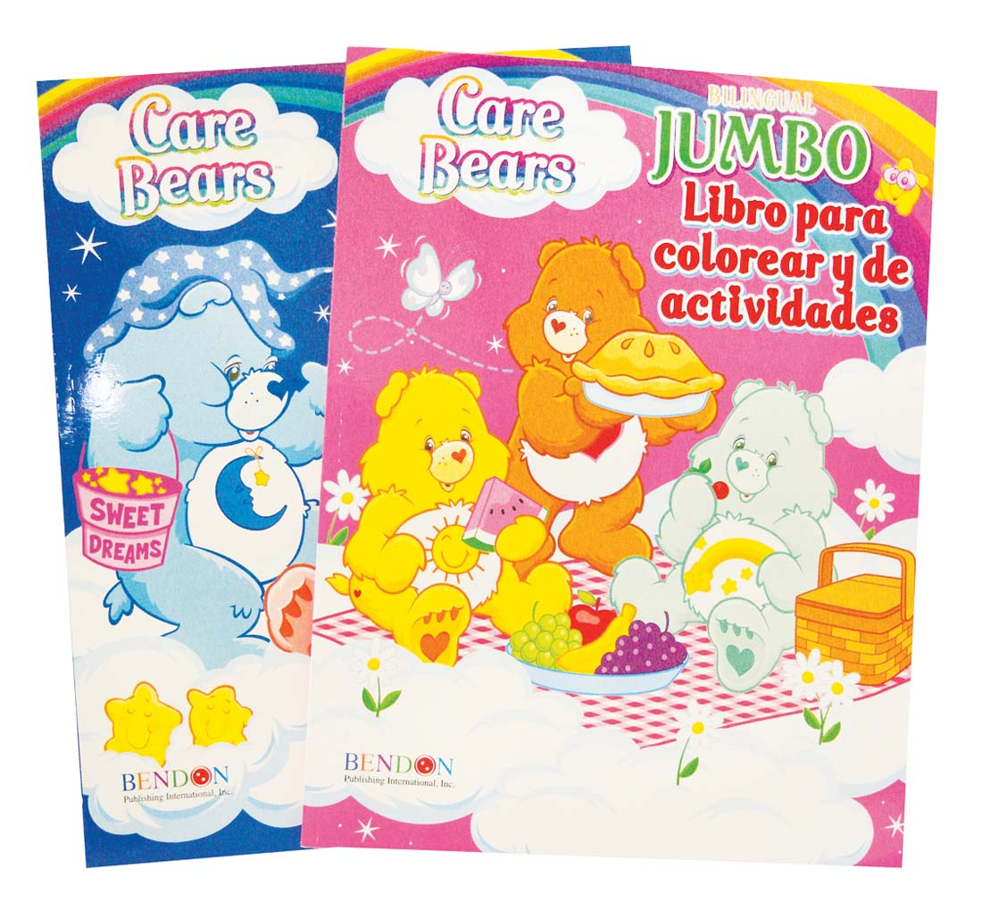 View CARE BEARS COLORING & ACTIVITY BOOK 96 PGS SPANISH **MADE IN THE USA**