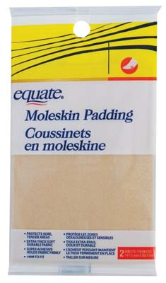 View EQUATE MOLESKIN PROTECTIVE PADDING 2 CT 3.5 X 4.5 INCH **MADE IN USA**