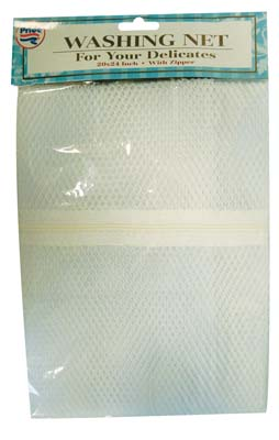 View MESH GARMENT WASHING NET WITH ZIPPER LARGE 24 X 24 INCH