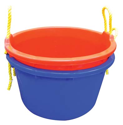 View JUMBO TUB 11 GALLON WITH ROPE BLUE/RED