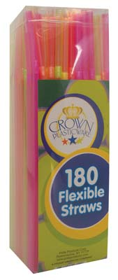 View FLEXIBLE STRAWS 180 CT IN SQUARE DISPENSER