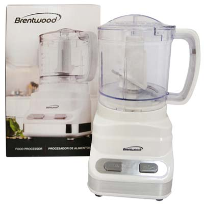 View BRENTWOOD FOOD PROCESSOR 3 CUP 2 SPEED WHITE CUL LISTED