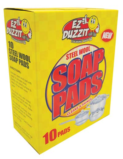 View EZ DUZZIT SCOURING STEEL WOOL SOAP PADS 10 PACK