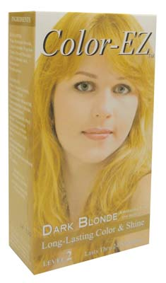 View COLOR-EZ HAIR COLOR 3 PC INCLUDES DEVELOPER 1.3 OZ/ COLORANT 1.3 OZ/ PAIR GLOVES DARK BLONDE